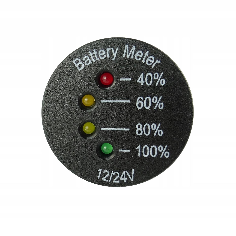 Wskaźnik poziomu naładowania akumulatora 12V/24V