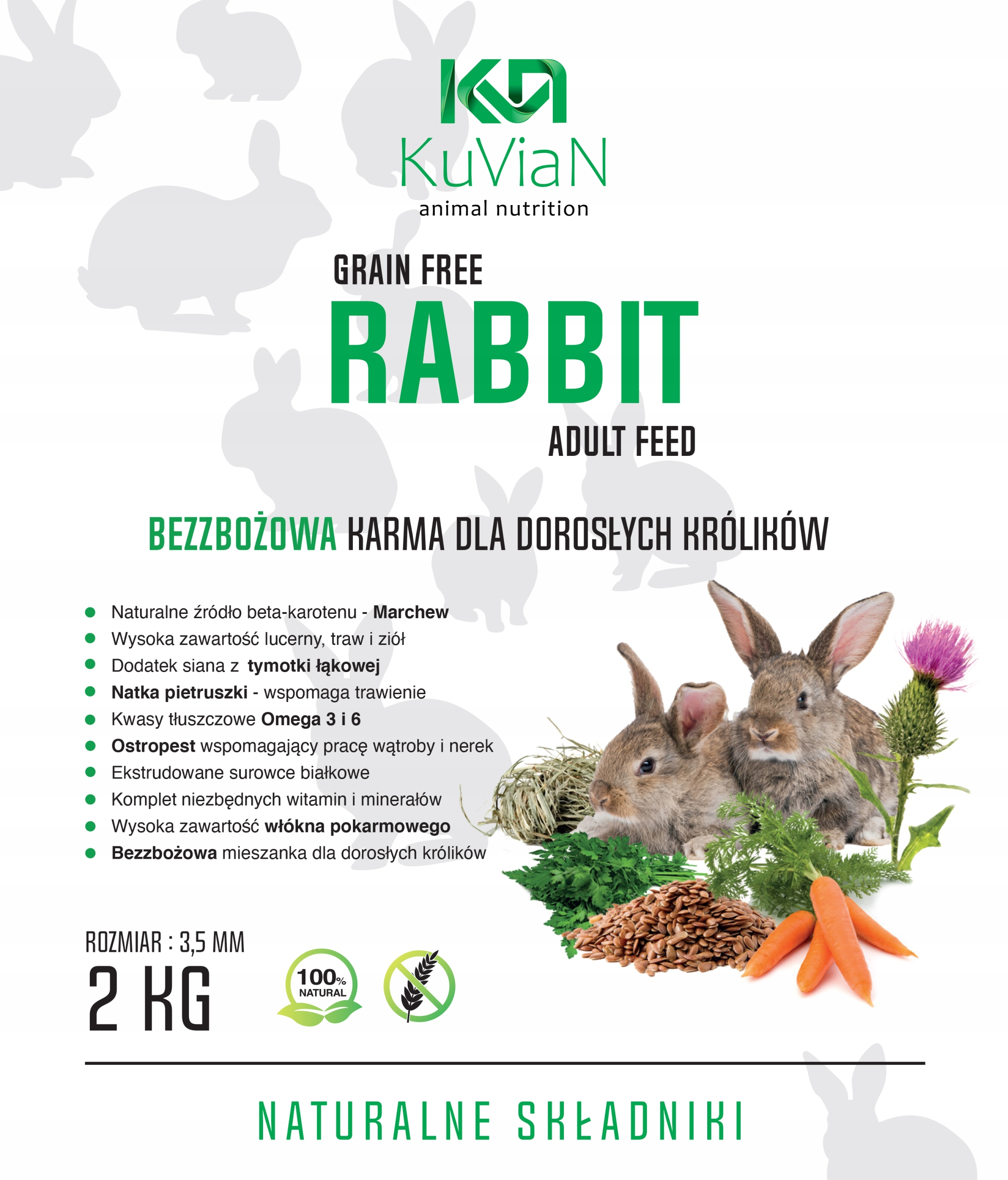 BEZZBOŻOWA Karma pokarm dla królika KRÓLIK DOROSŁY