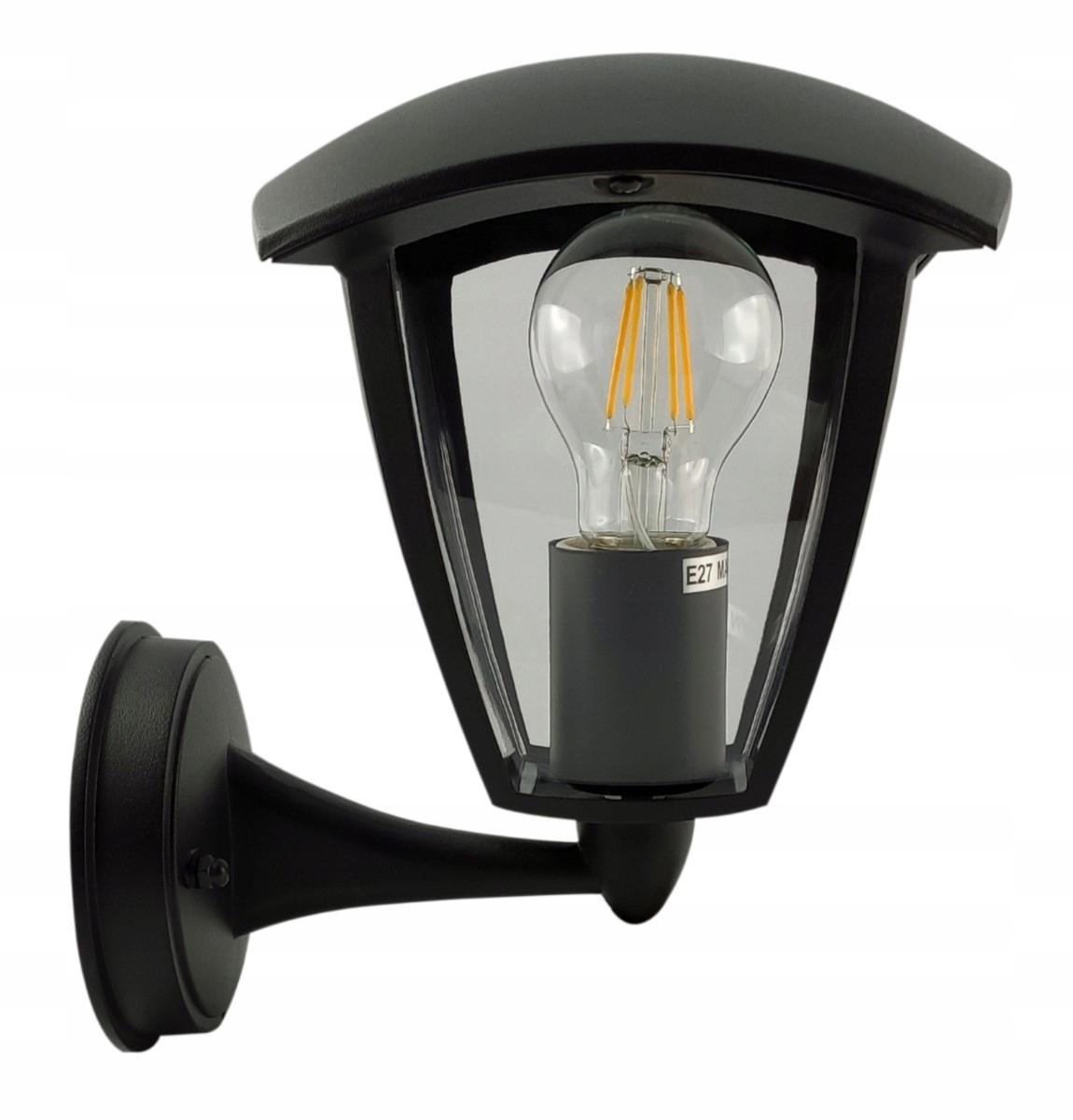 Vonkajšie podkrovné retro fasádne nástenné svietidlo pre LED