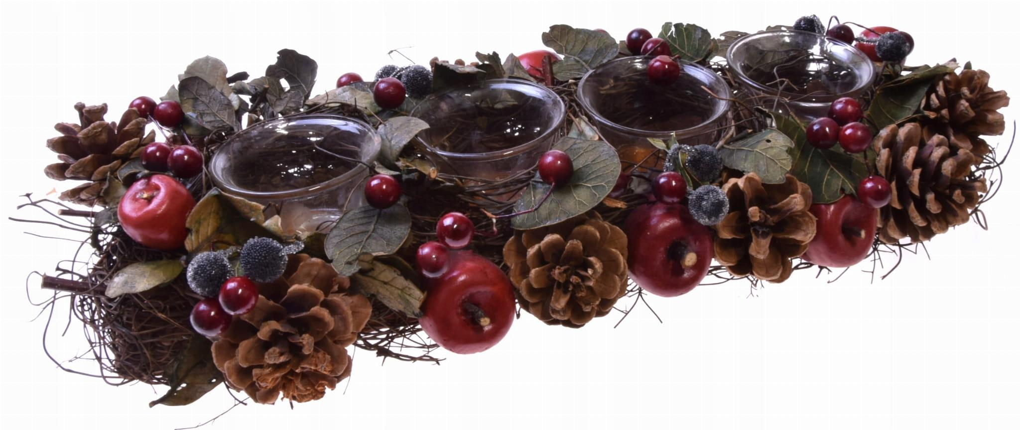 Рождественский подсвечник 4 чайных свечи