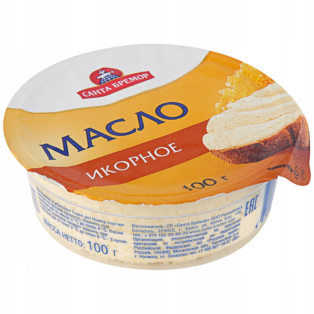 Масло икорное 100г Санта Бремор