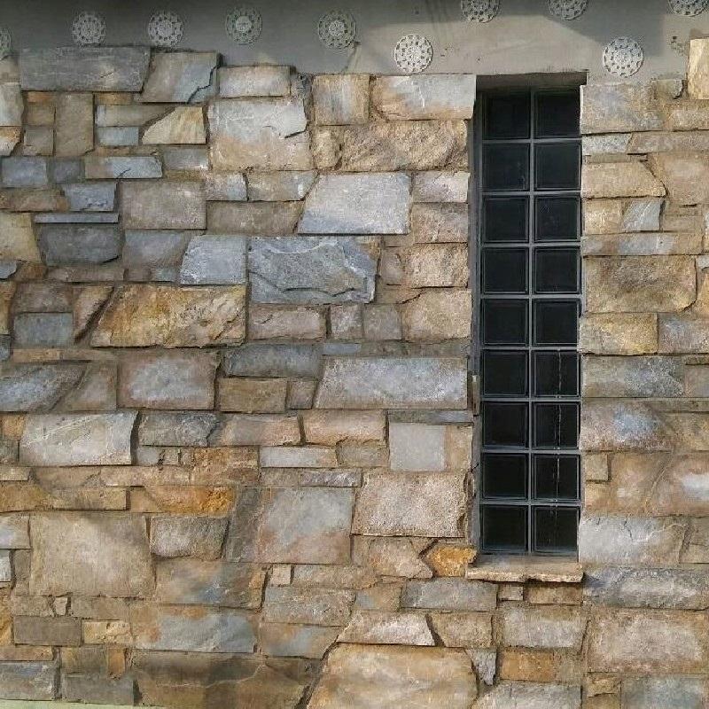 Kamień elewacyjny – kwarcyt – mur francuski