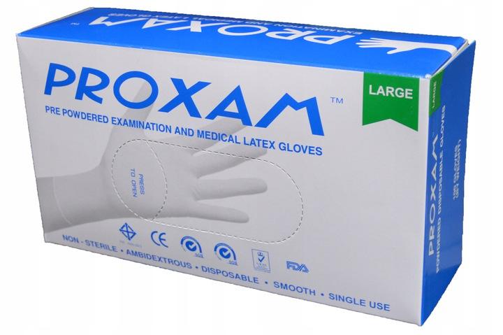 Перчатки защитные LATEX порошковые 100 шт.