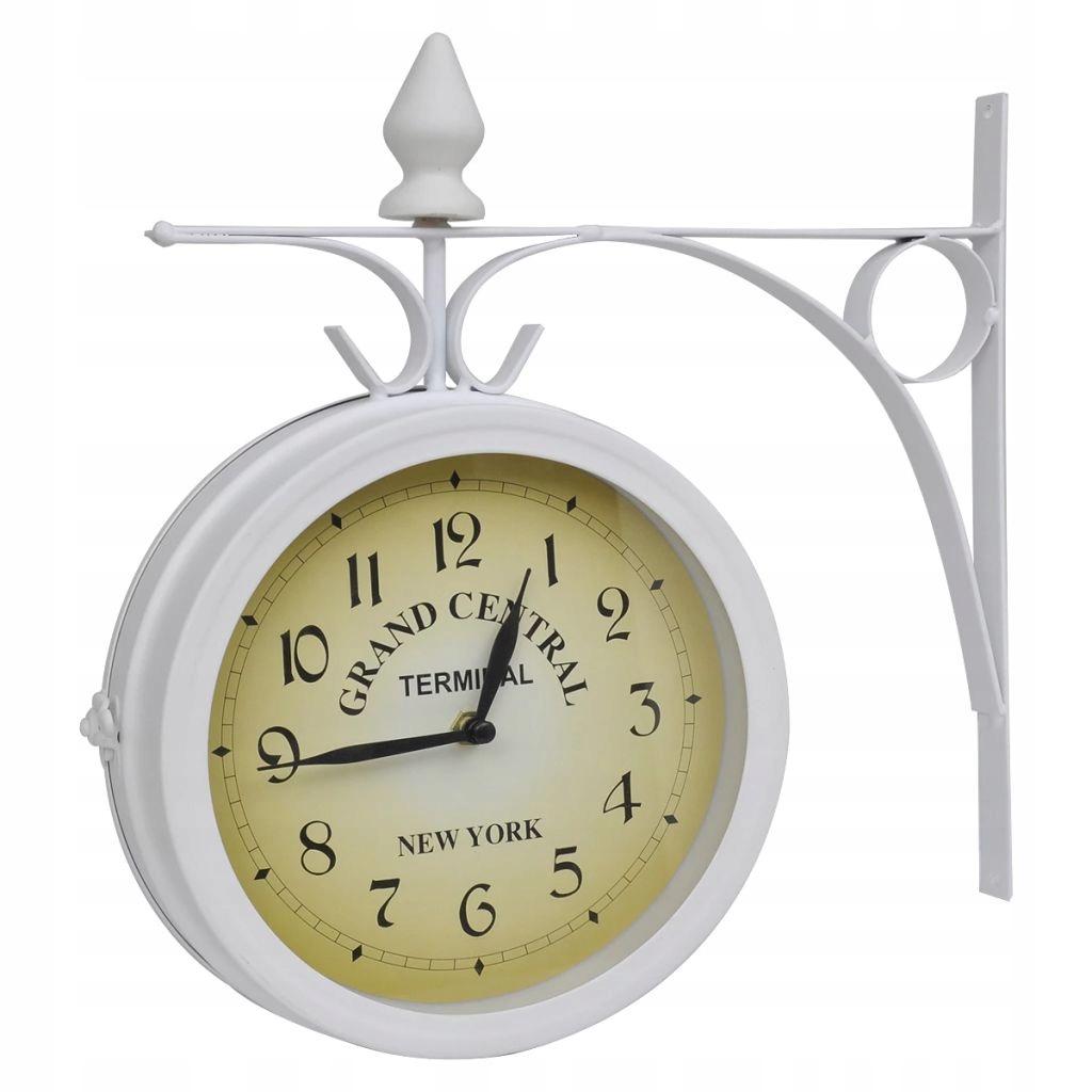 Nástenné hodiny v retro štýle obojstranné b