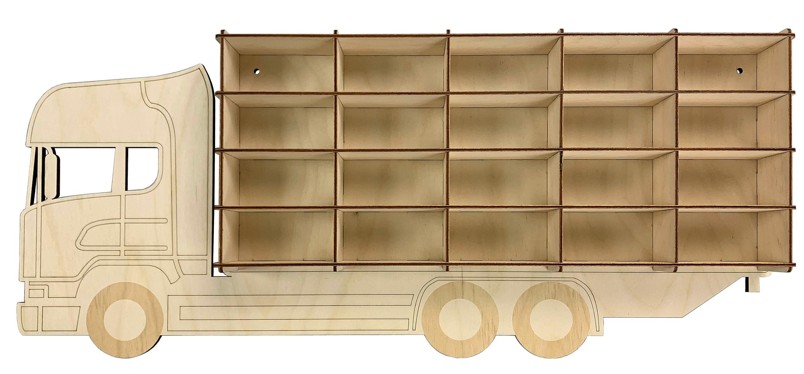 półka ciężarówka na samochodziki resoraki 20miejsc