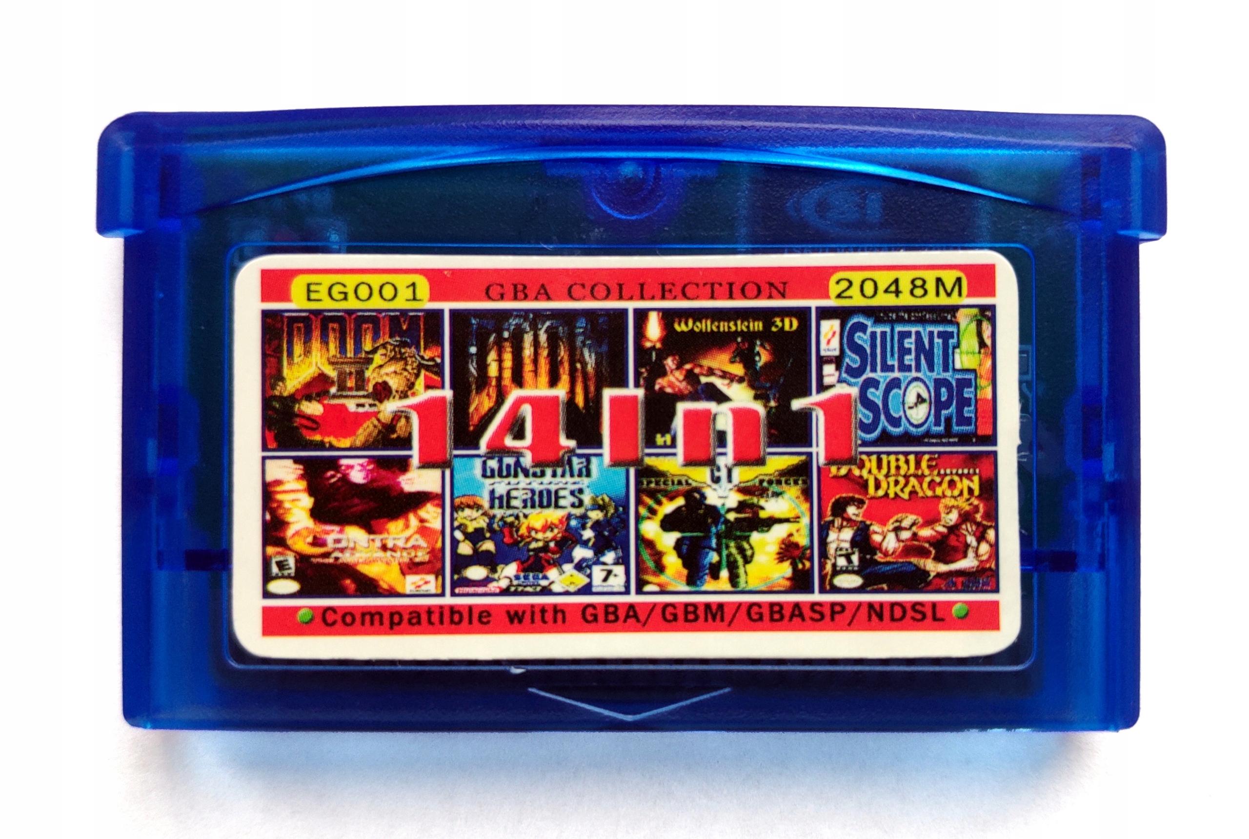 14in 1 GameBoy GBA - Doom + Wolfenstein 3D + Mario