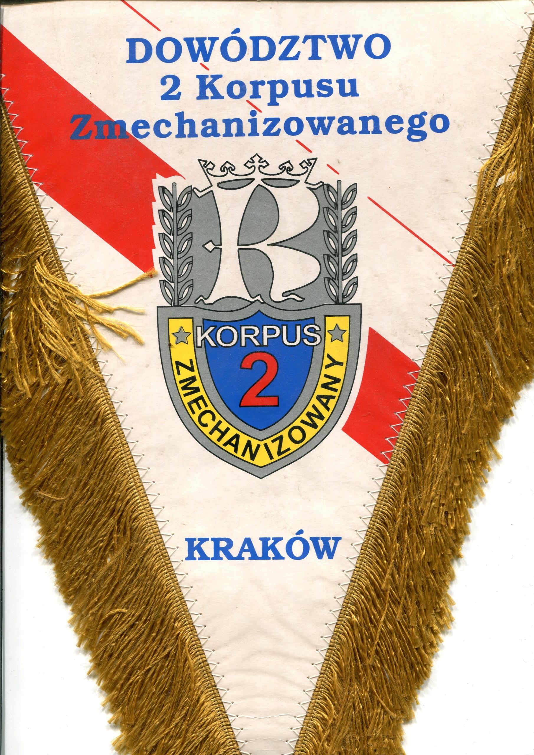 L - Dowództwo 2 Korpusu Zmechanizowanego 23x 33 cm