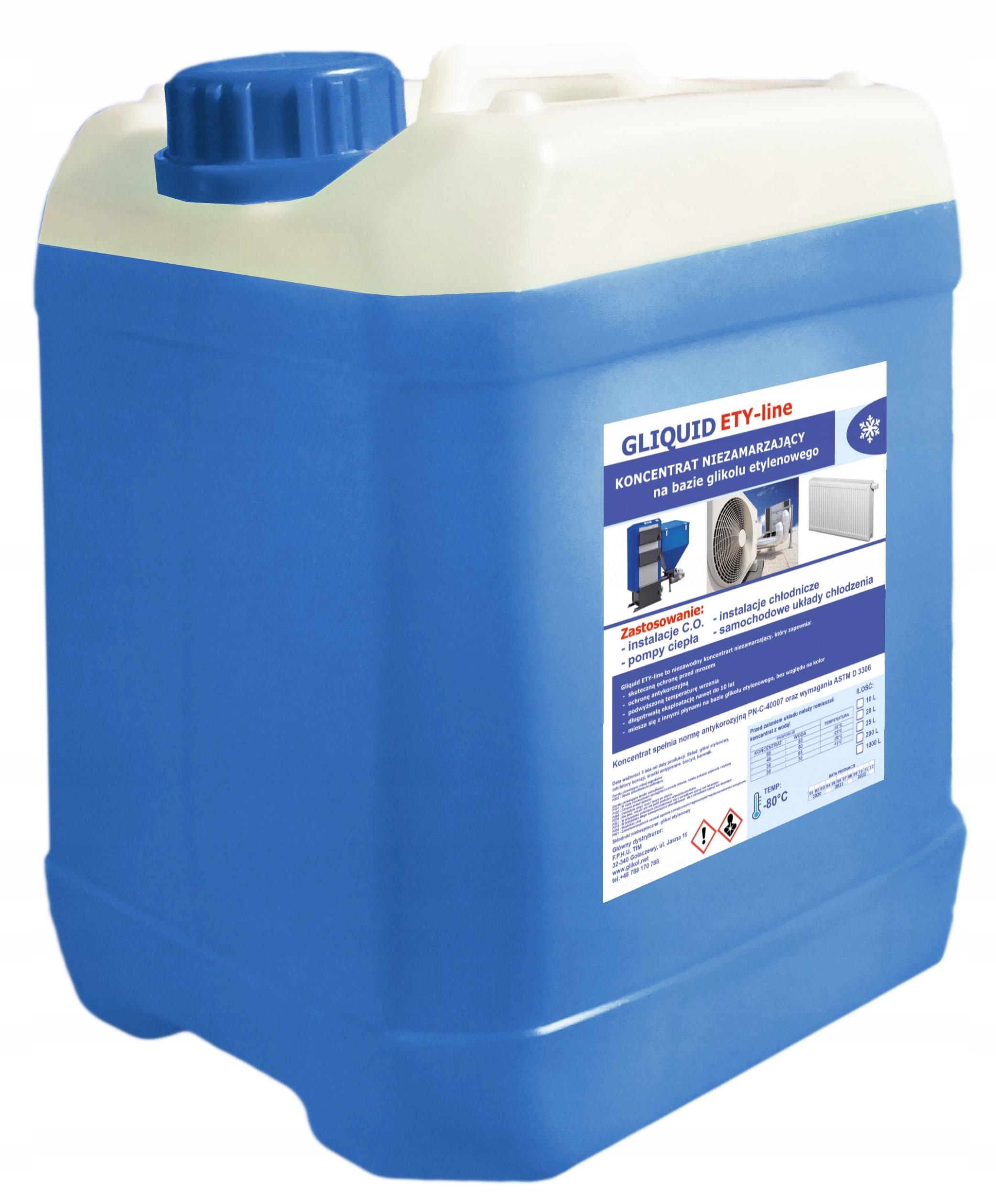 Koncentrat glikol etylenowy Gliquid -80°C 10L