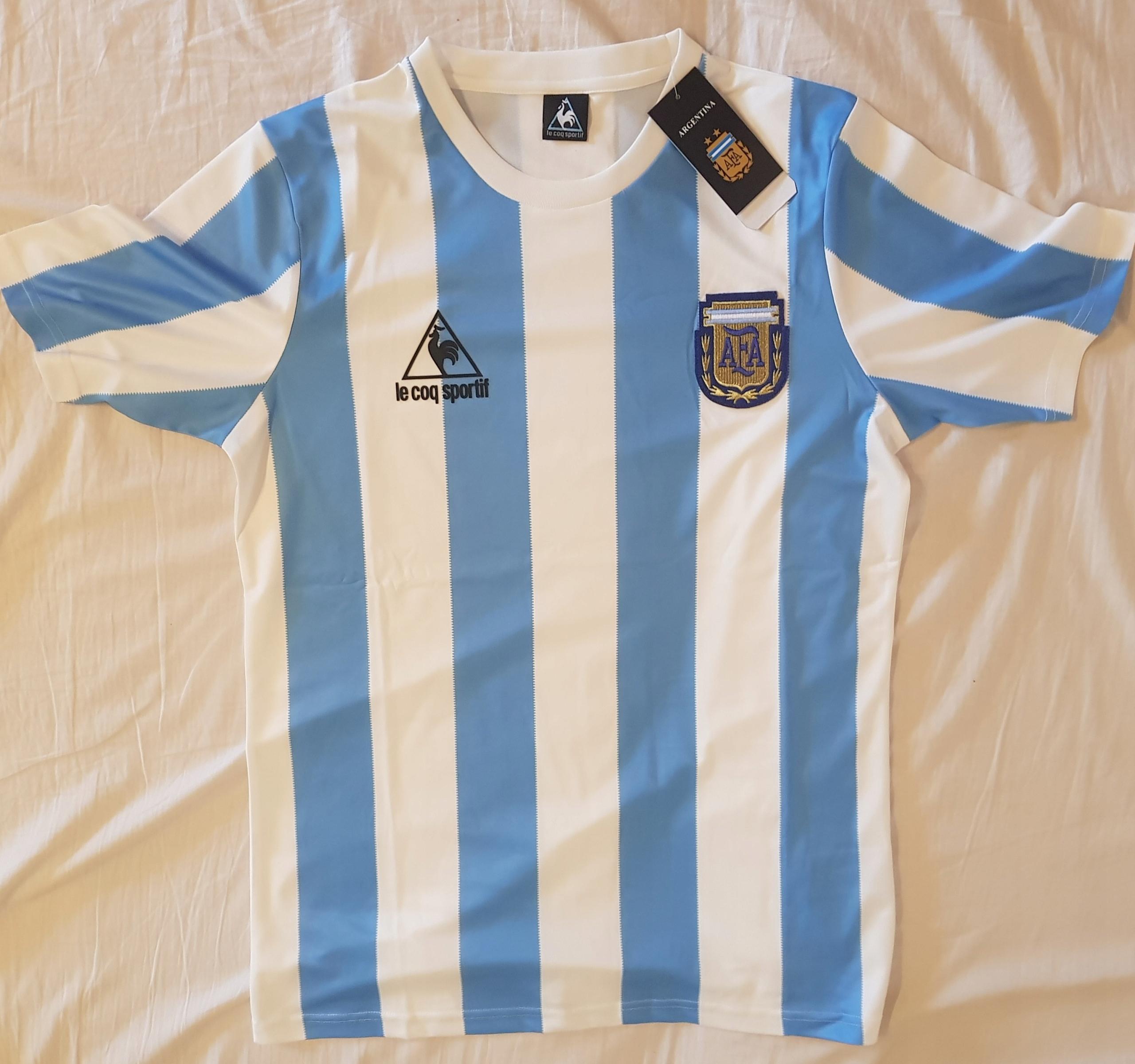 Retro tričko Argentina 1986 - replika, reprodukcia