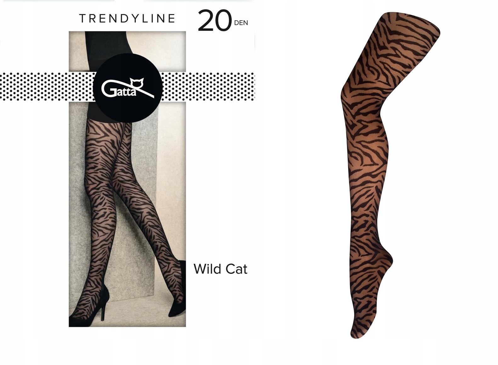 Gatta Rajstopy Wild Cat 03 ROZ.2-S Nero Zebra