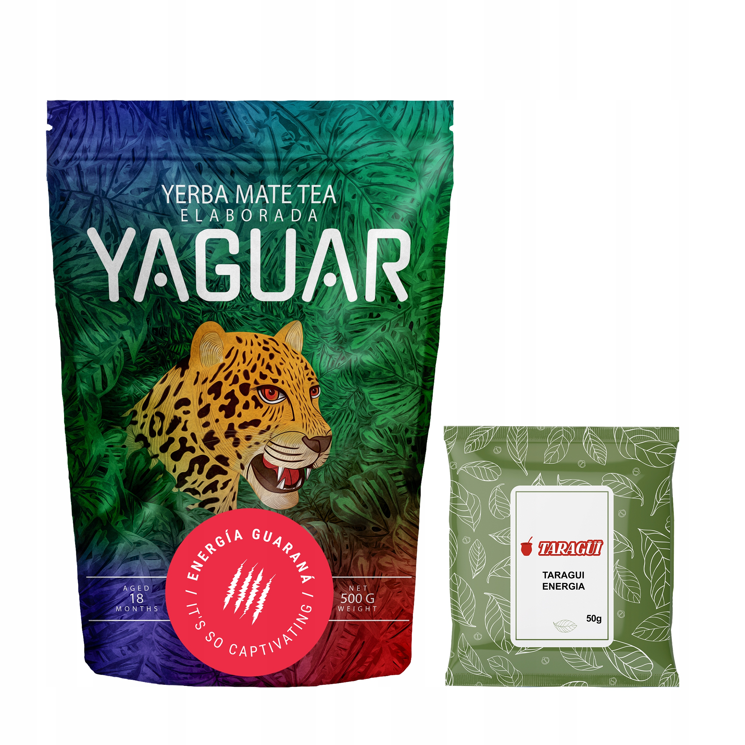 Yerba Mate Taragui Yaguar Energy 0.5 кг 500 СИЛЬНЫЙ