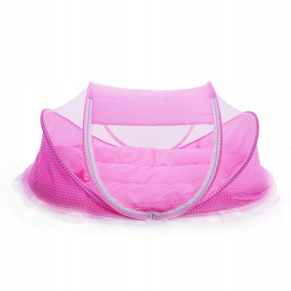 Туристический кроватный коврик с 3in1 розовая москитная сетка