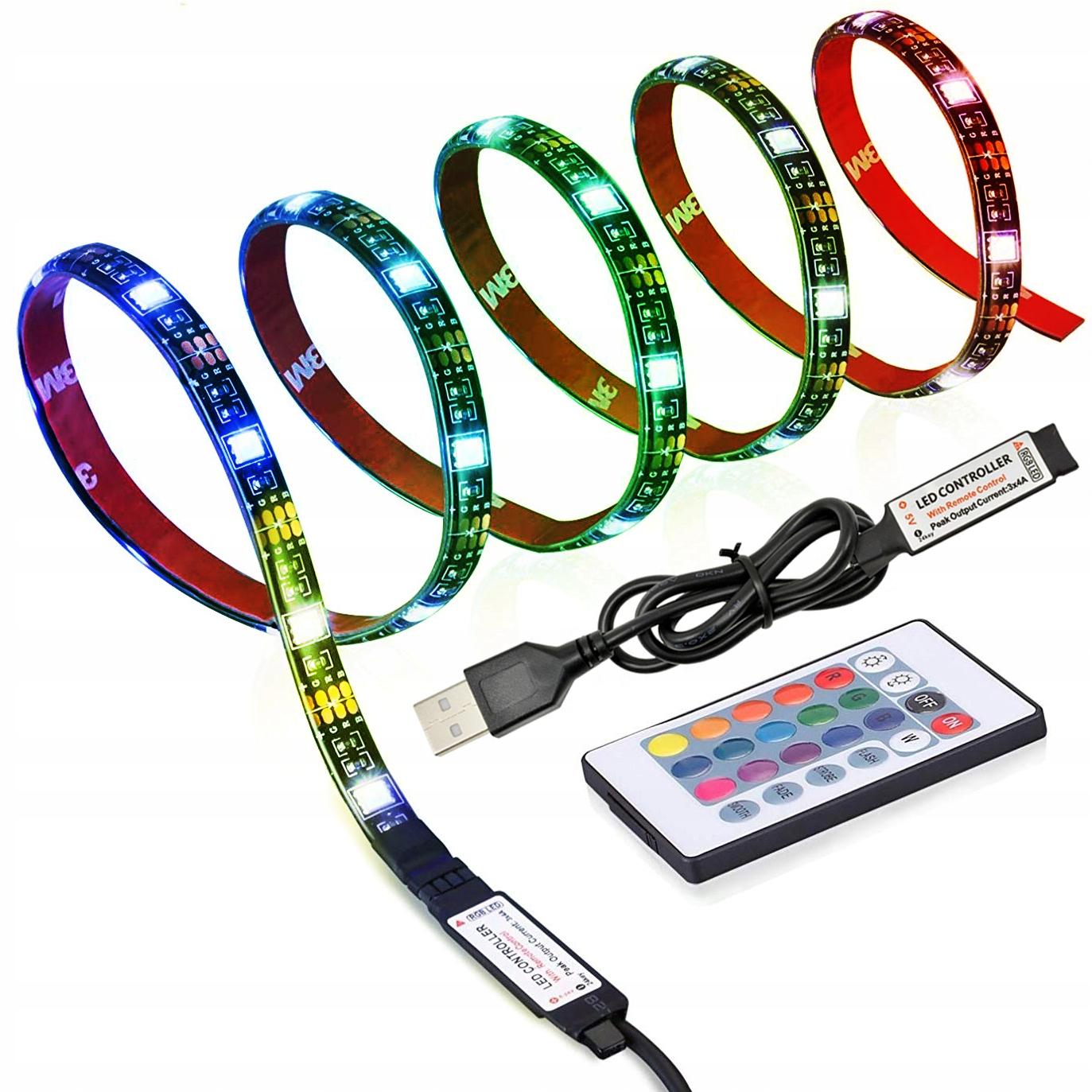 Светодиодная лента RGB с подсветкой 4x 50см USB PILOT TV