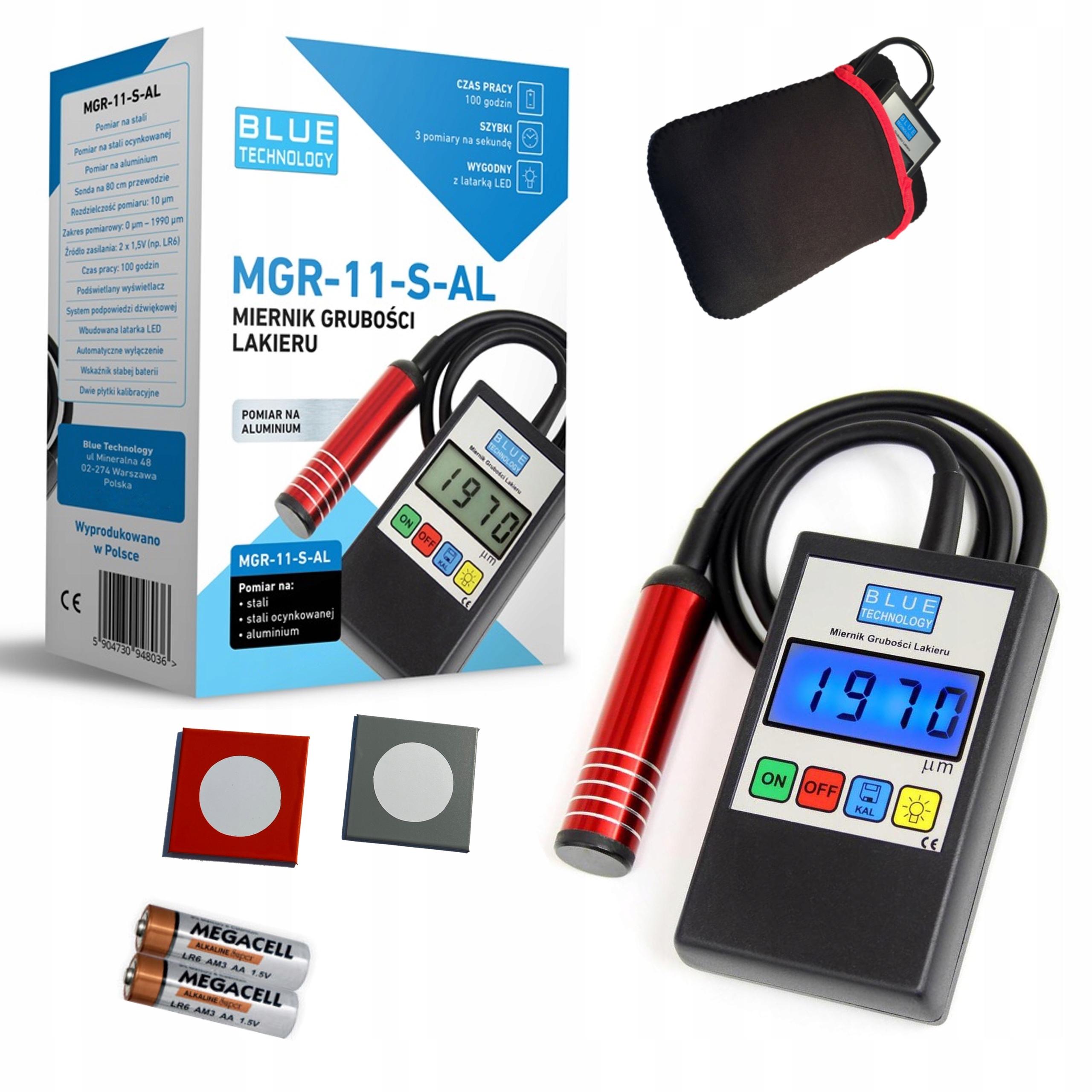 Miernik tester czujnik grubości lakieru MGR11 S AL