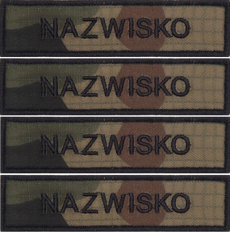 IMIENNIK nazwisko WOJSKOWE na mundur US-21 x 4 szt