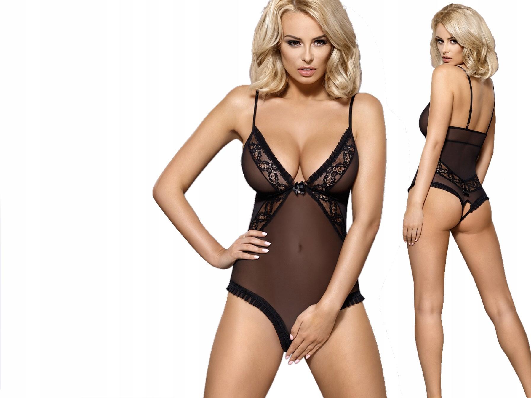 Obsessive body 837-TED-1 seksowne body otwarte S/m