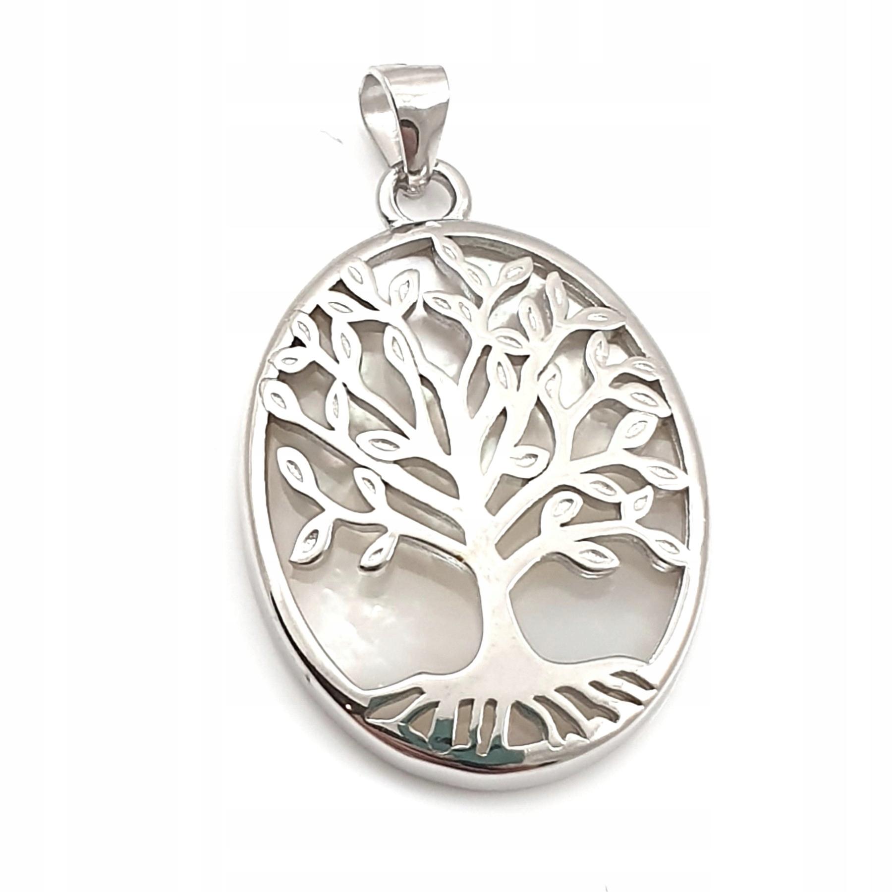 Prívesok rodowany Strom s hmotnosťou pearl
