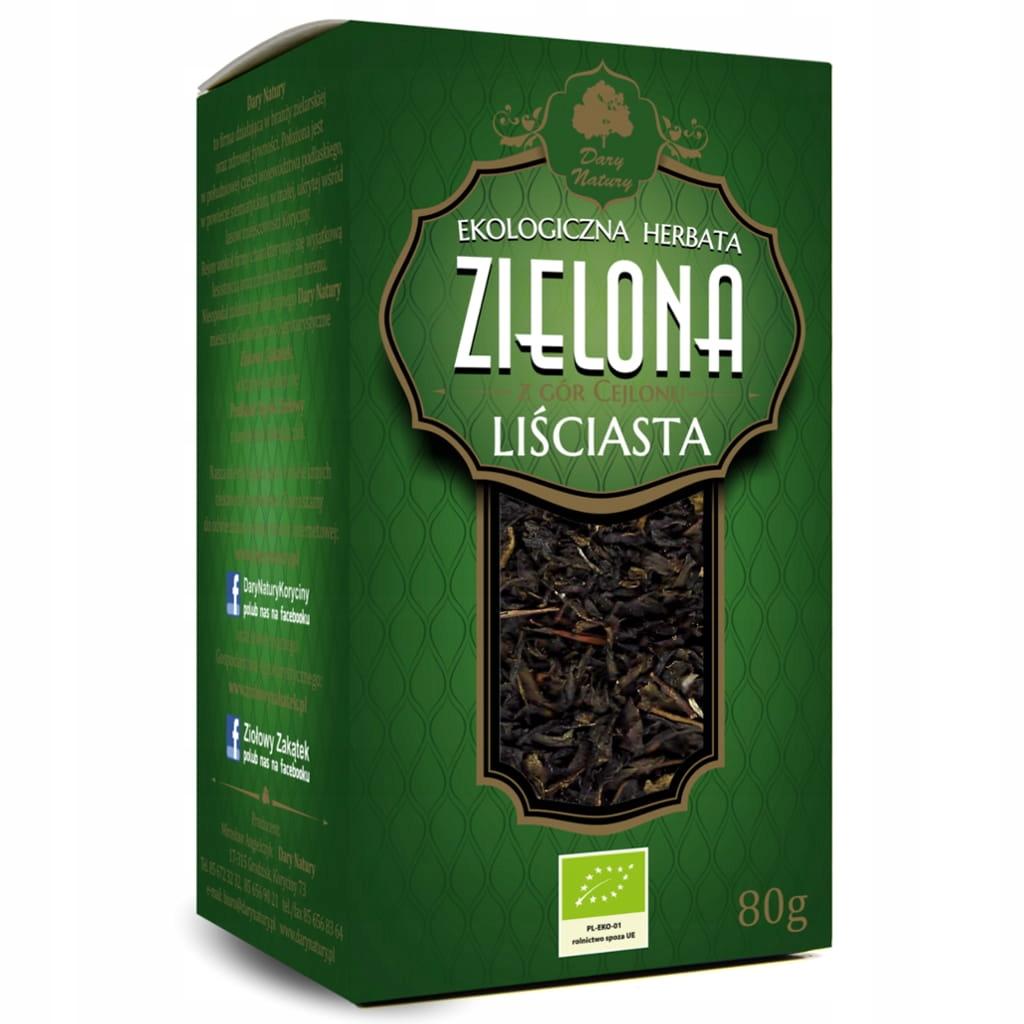 Эко-листовой зеленый чай 80г Dary Natury