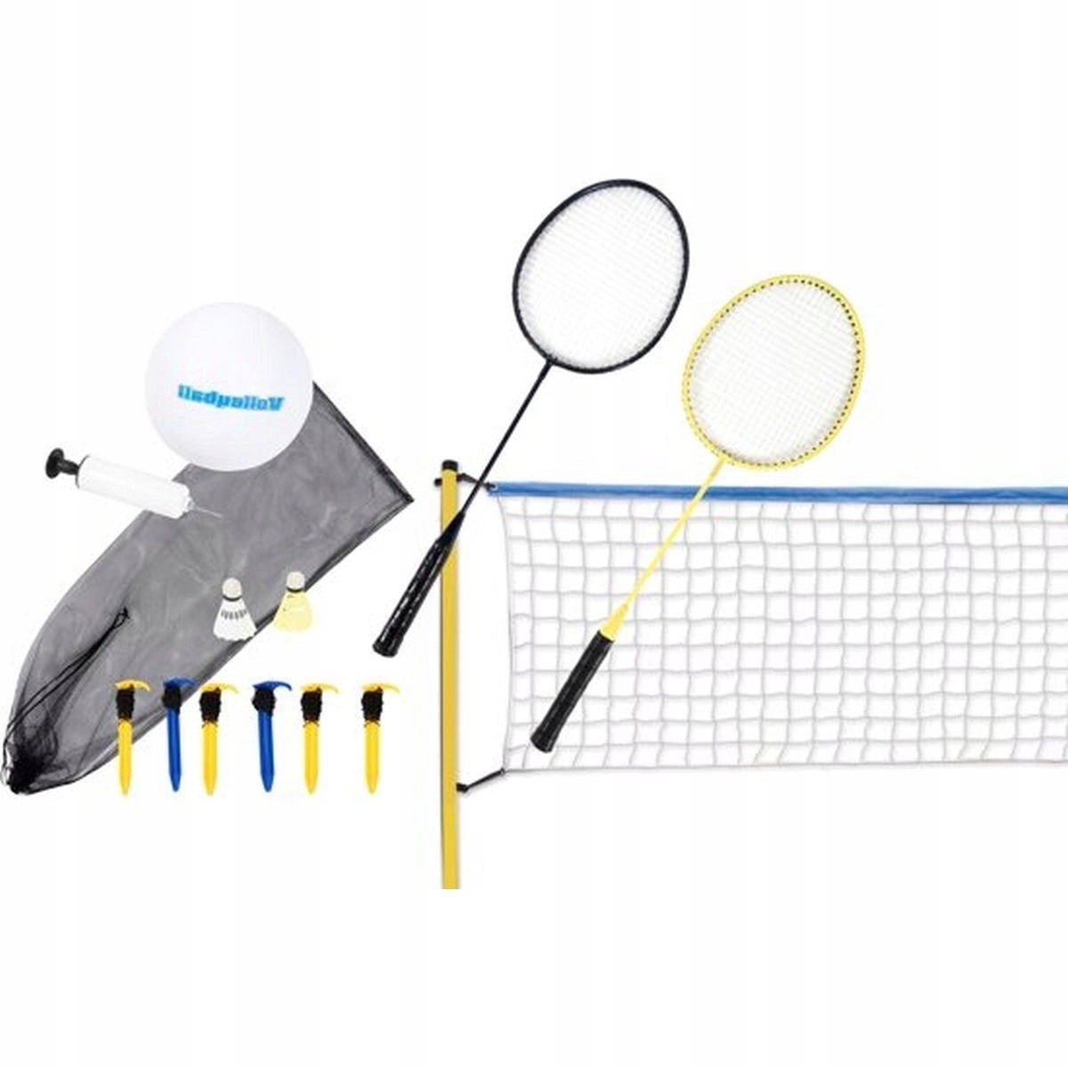 2in1 волейбол и бадминтон сетка для мяча