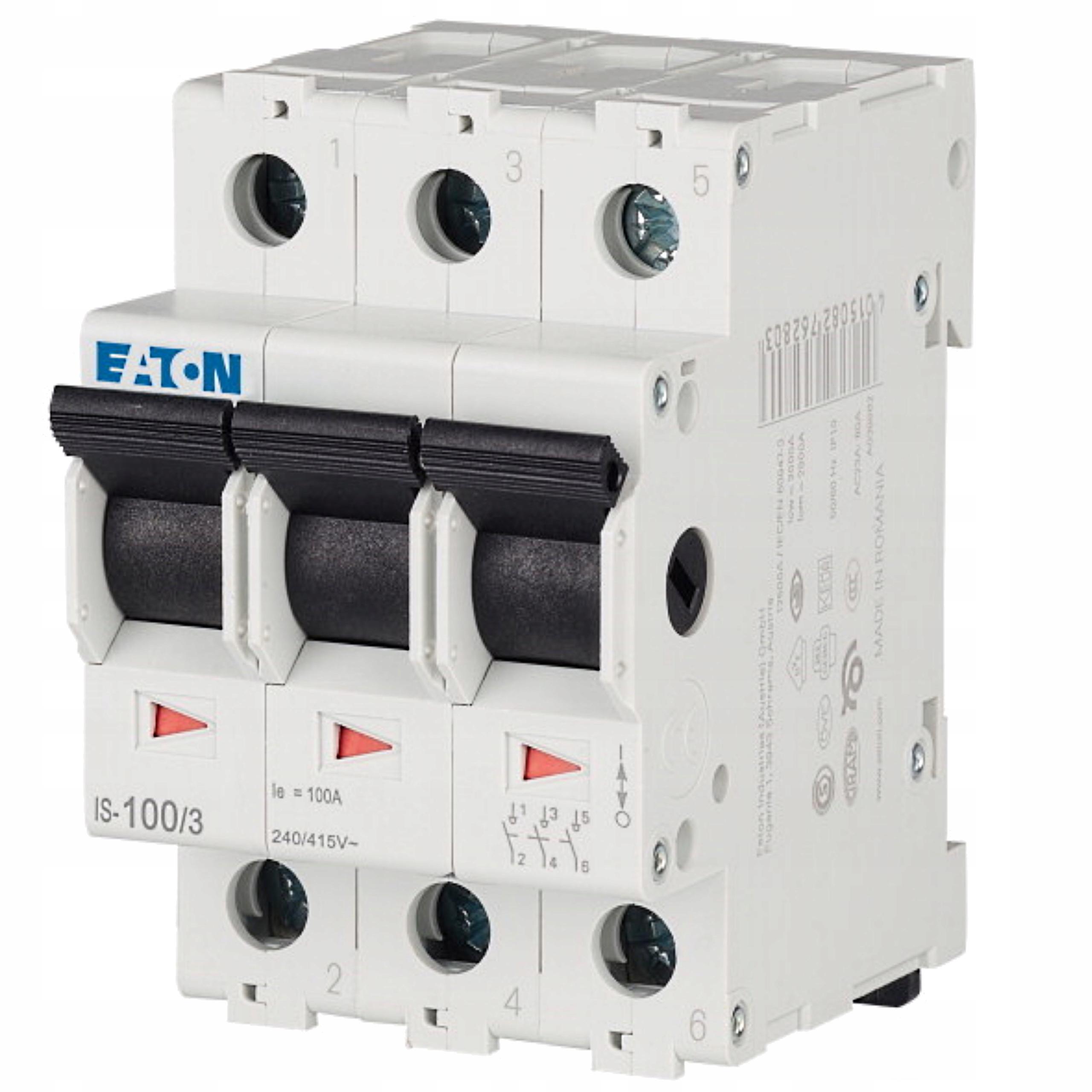 Выключатель-разъединитель модульный 0-1 100А 3П ИС-100/3