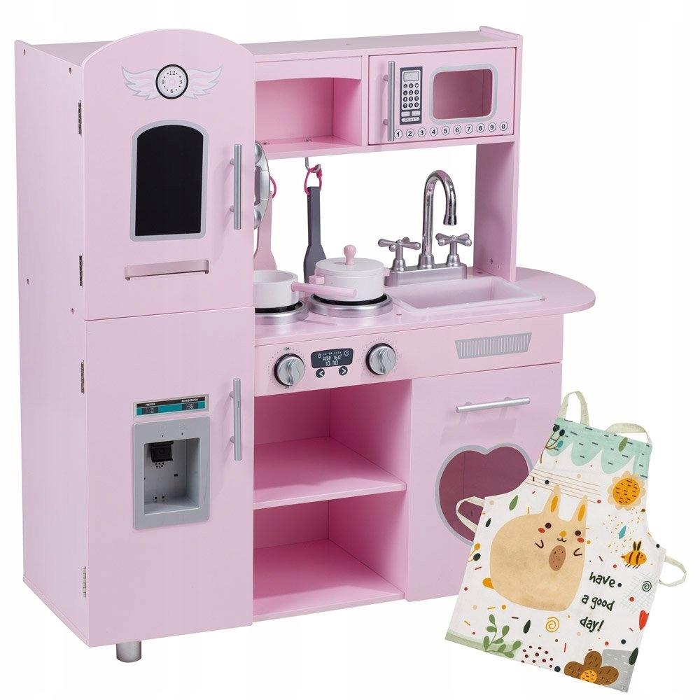 Ružová Kuchyňa Retro XL + Zástera, až 86 cm!