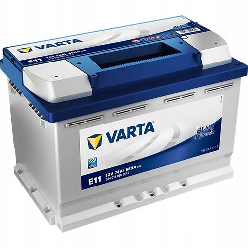 аккумулятор varta blue e11 12v 74ah 680a