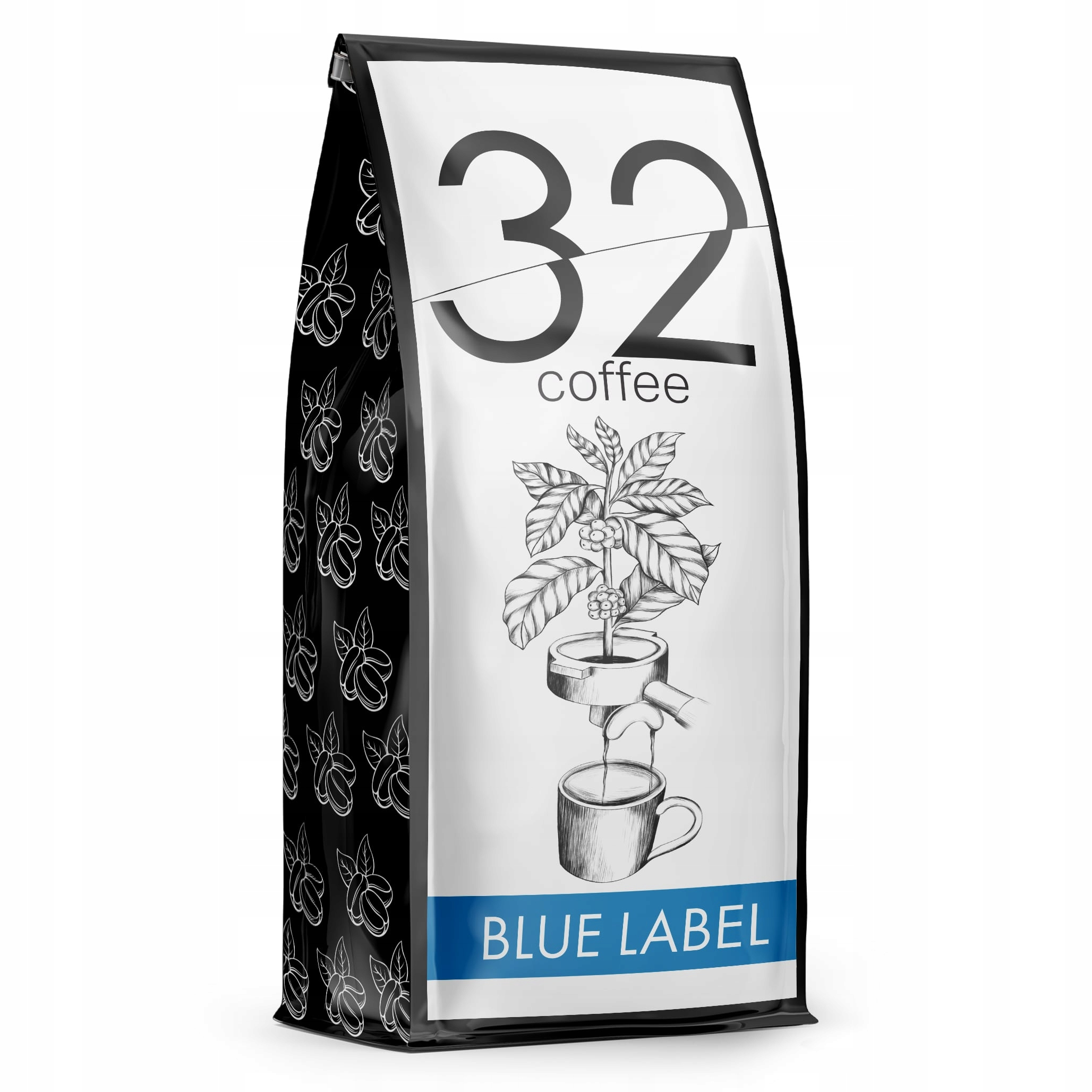 Кофе 32 Кофе BLUE LABEL 1кг Свежеобжаренный