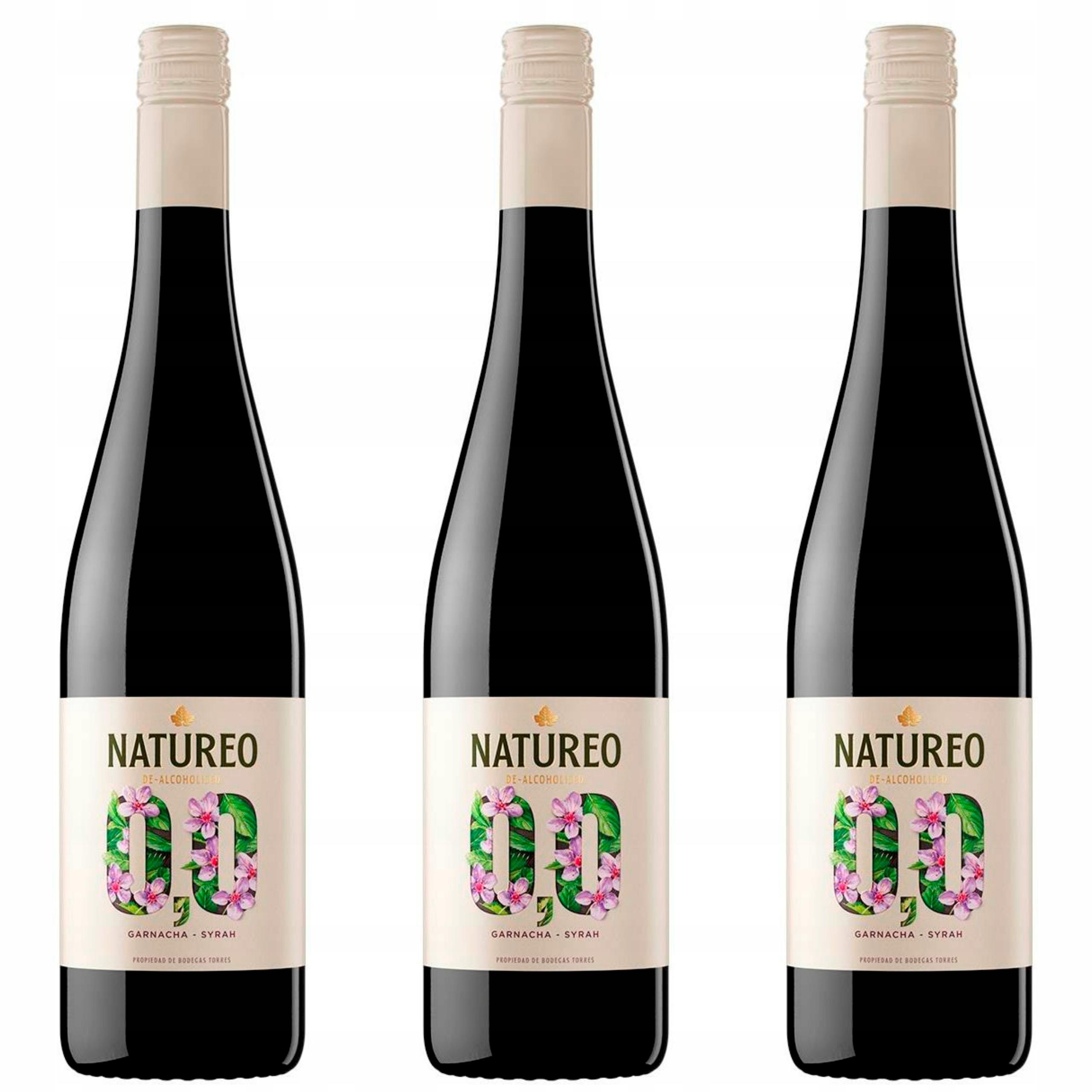 Испания Natureo Красное вино 0% набор из 3 вин