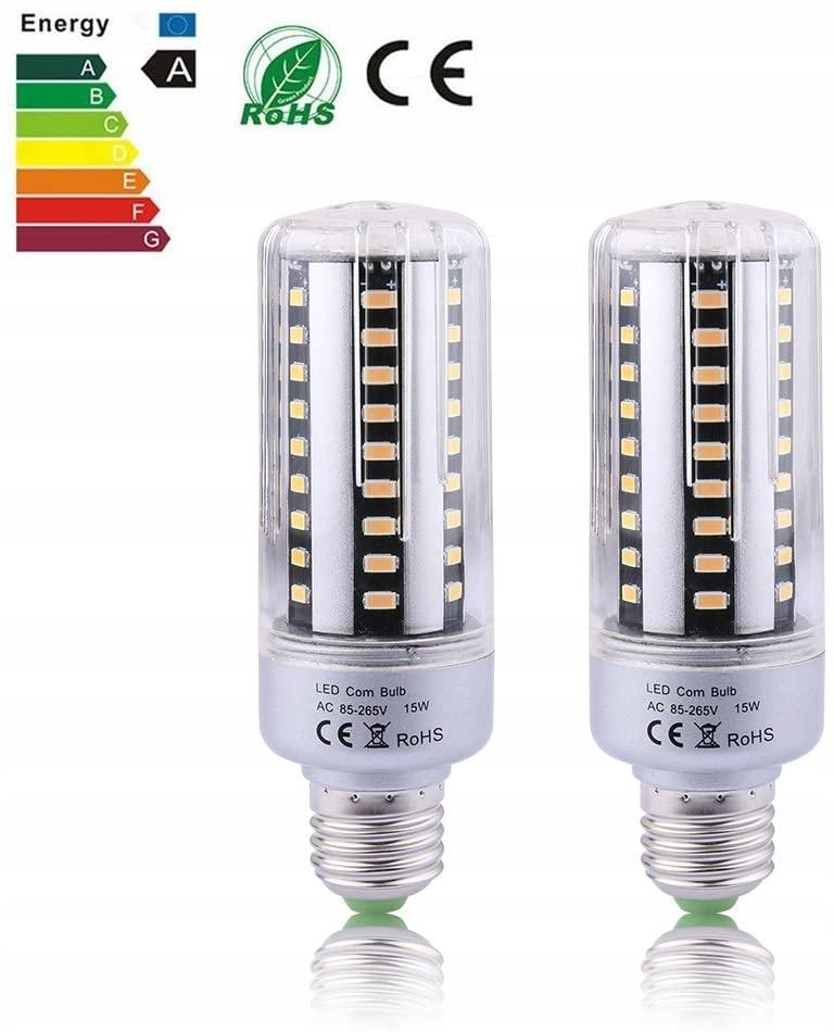 Pakiet 100 x Zarówka LED E27 15W Biała Ciepła!