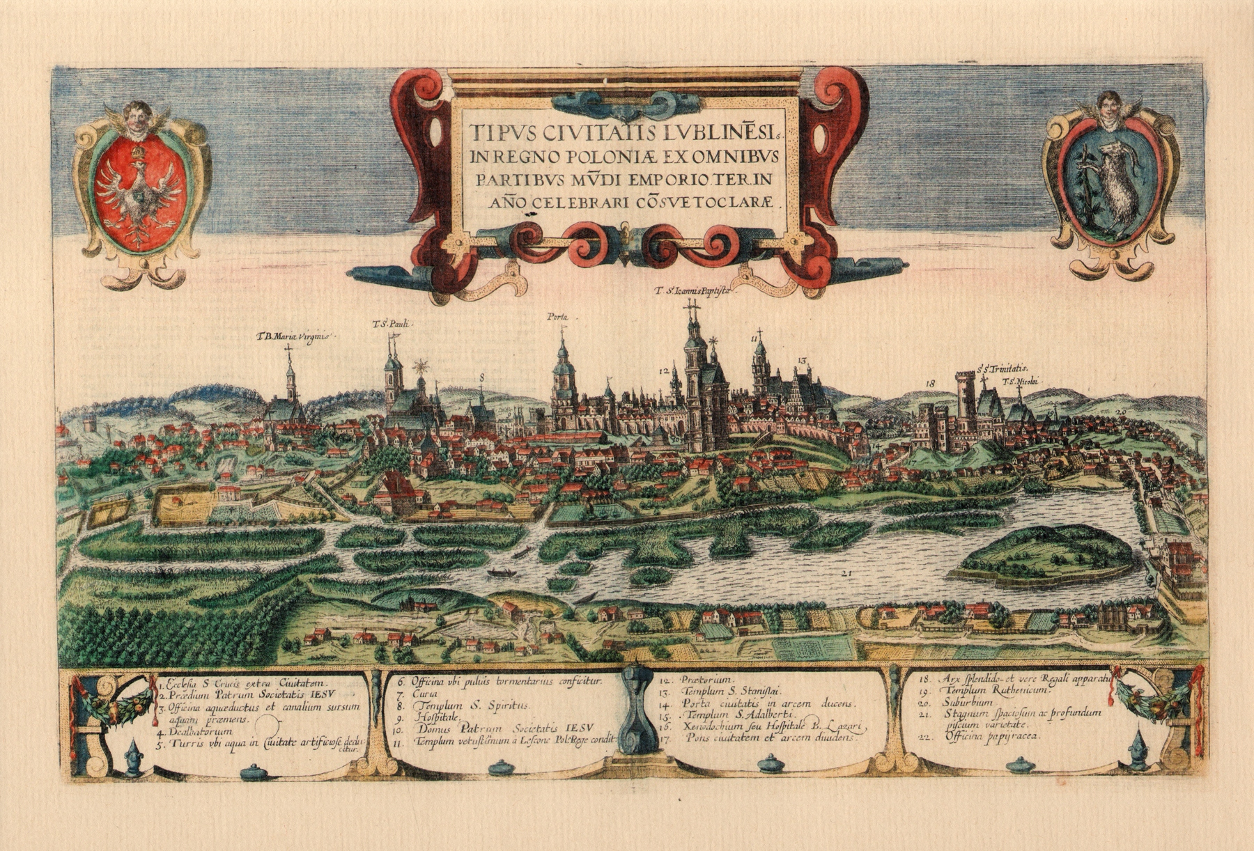 Item LUBLIN is a BEAUTIFUL PANORAMA of the seventeenth century 1618.