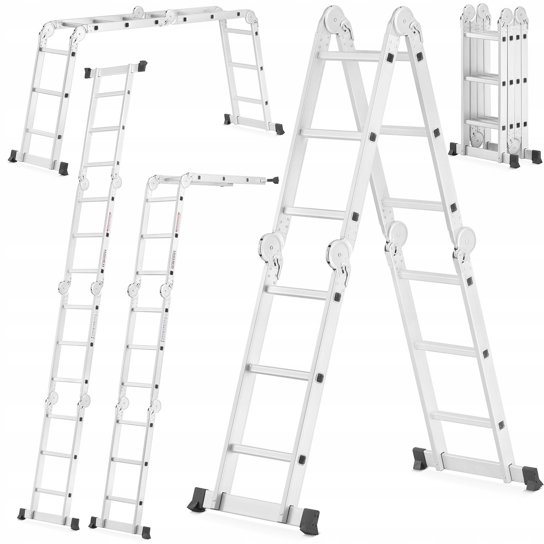 Drabina aluminiowa składana przegubowa 4x3 HIGHER