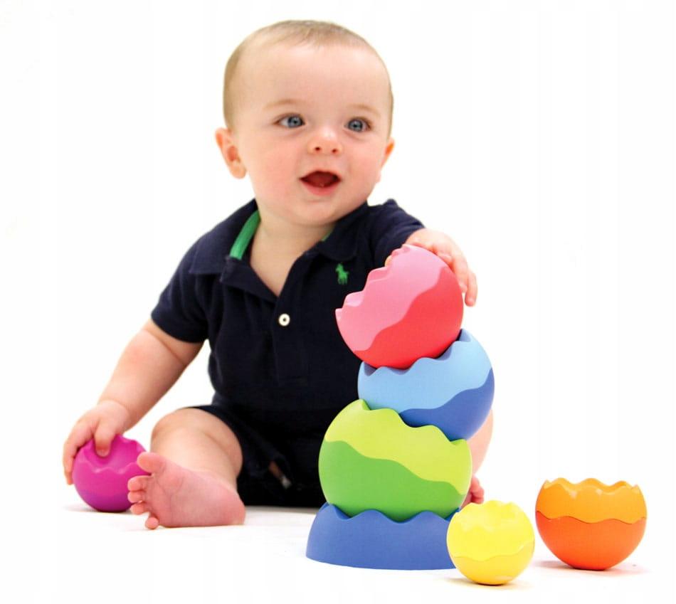 Kule Tobbles Neo wieża dla malucha kulki zębate Wiek dziecka 6 m +