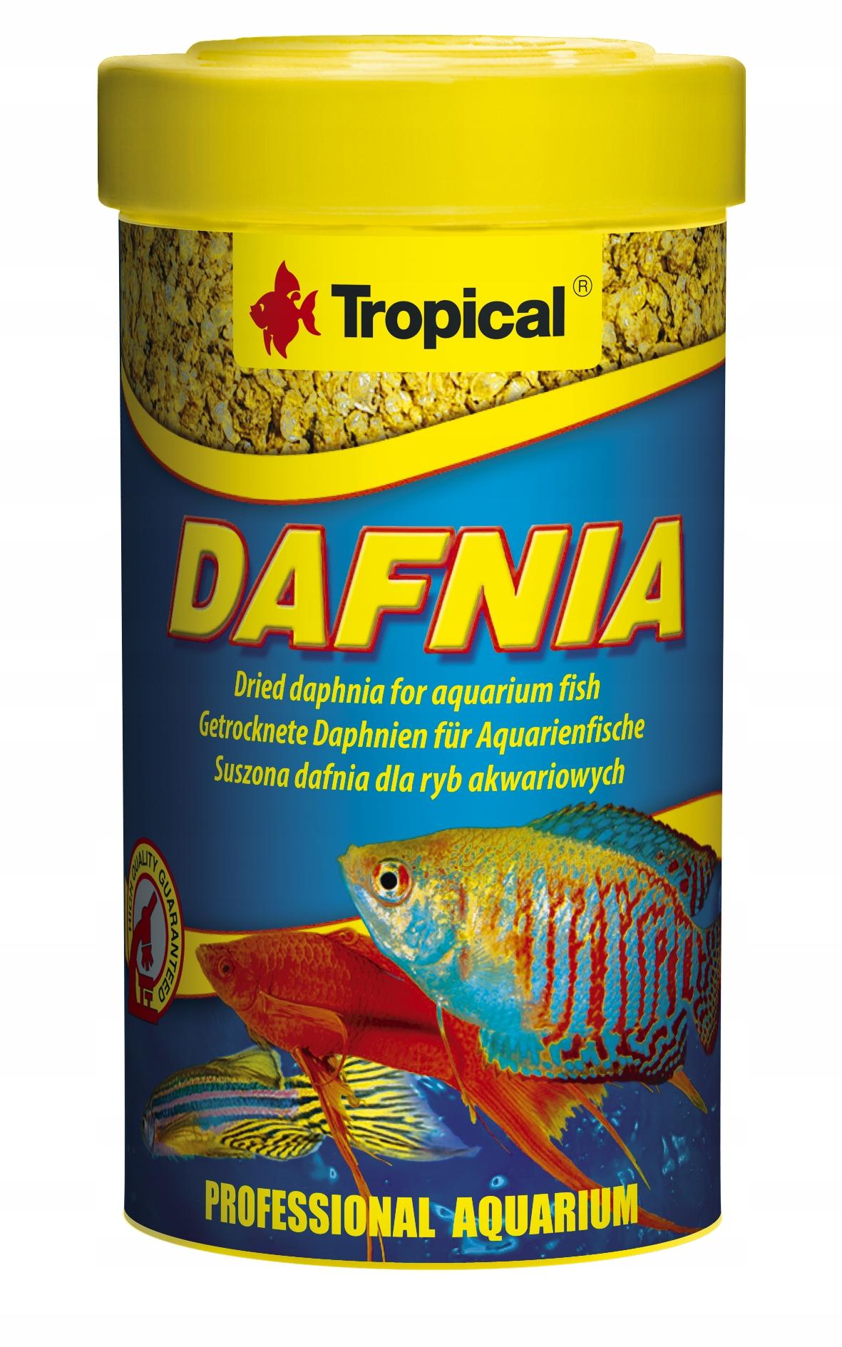 TROPICAL DAFNIA 100ml Suszone Rozwielitki Dla Ryb