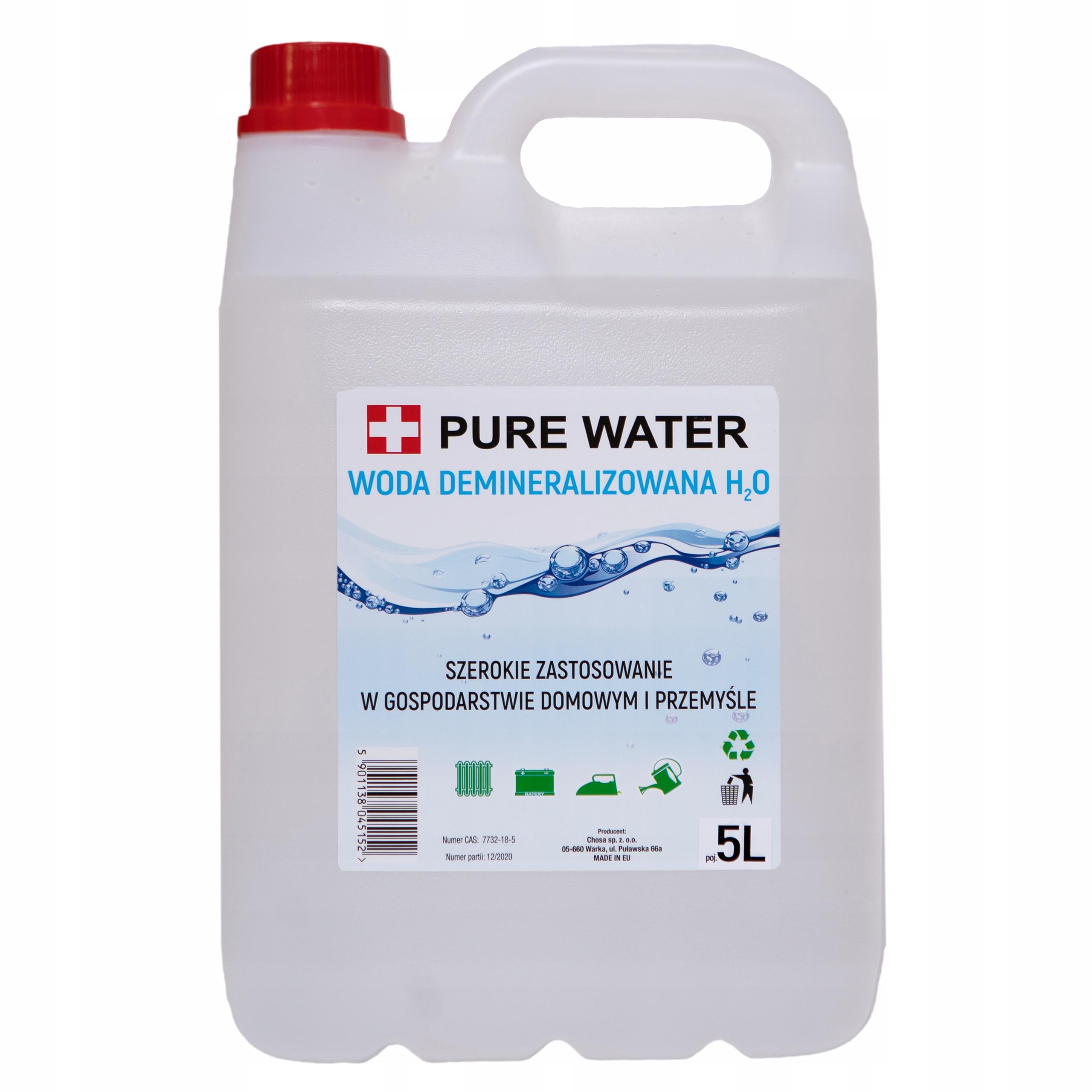 Woda DESTYLOWANA DEMINERALIZOWANA 20L (4x5L)