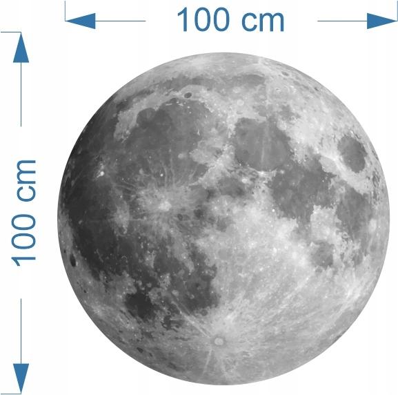НАСТЕННЫЙ СТИКЕР ROUND MOON 100см