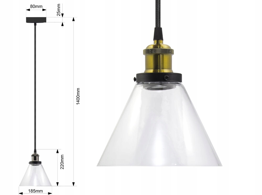 LAMPA SUFITOWA WISZĄCA VASO AX ŻYRADNOL LED LOFT A EAN 5903351615617