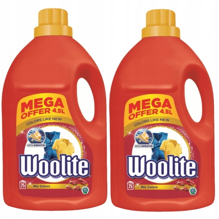 Woolite Стиральная жидкий цвет 2x4.5L (150 моет)
