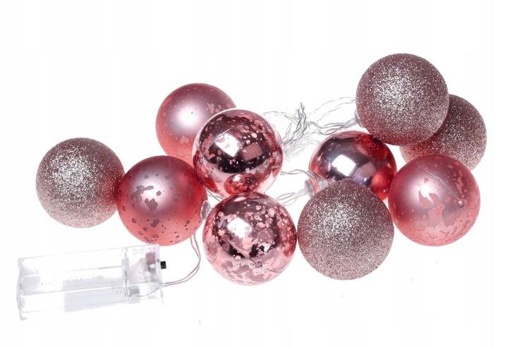 Svietidlá na vianočné ozdoby Elegantná 10 LED ružová na vianočný stromček