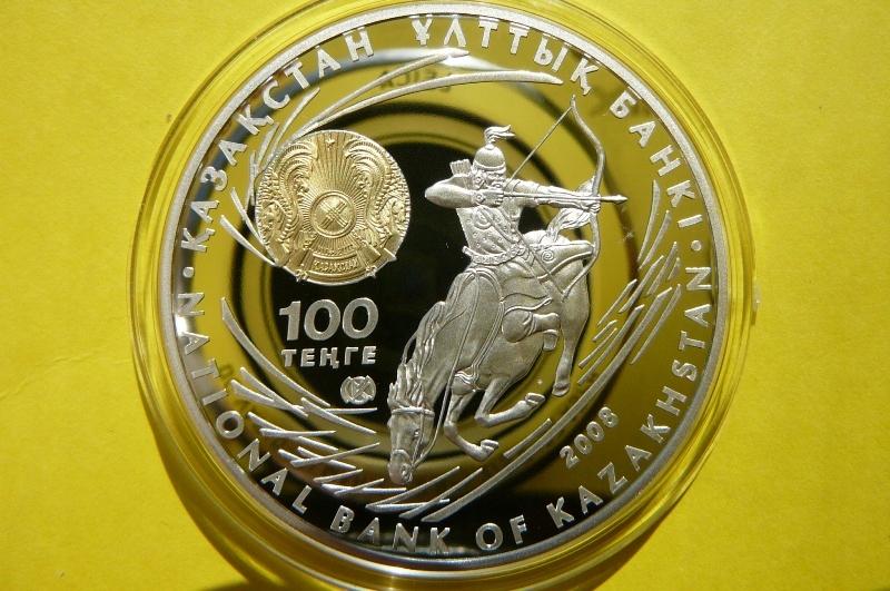 100 TENGE KAZACHSTAN- CZYNGIS CHAN -Ag 925 Oz+CER