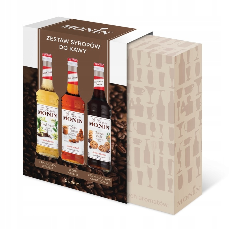 Syrop do kawy Monin - zestaw 3x50ml