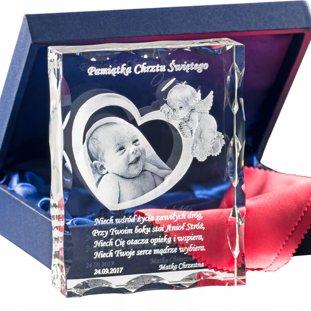 Item Souvenir Baptism engraving pictures in glass