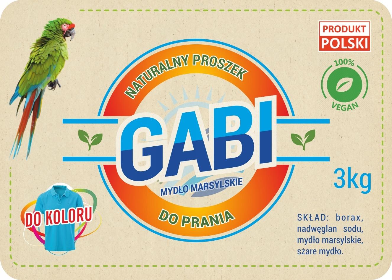 Экологически чистый стиральный порошок Габи 3 кг Цвет-мешок