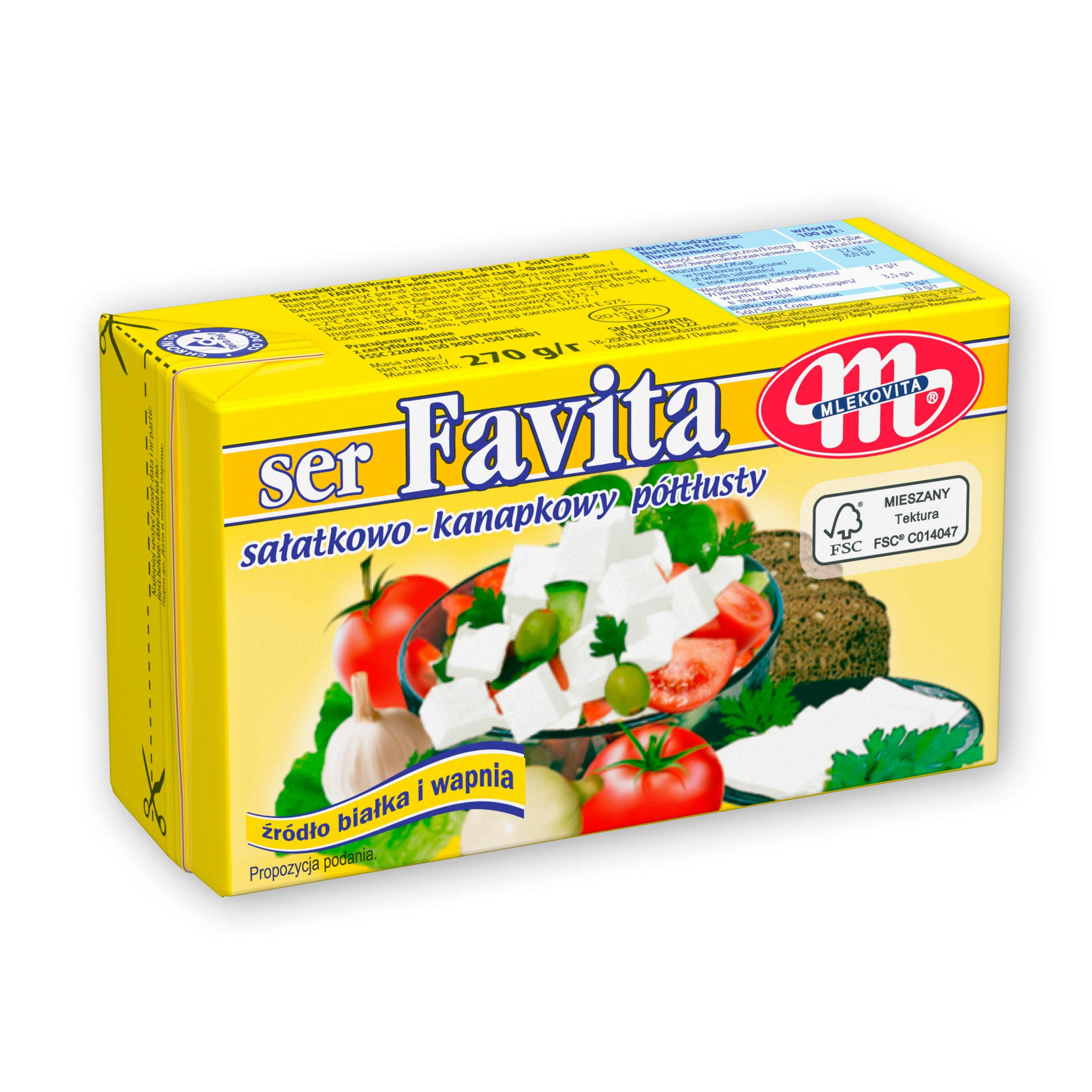 Ser Favita 12 % sałatkowy 270 g.