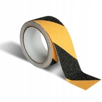 Лента противоскользящая 50мм 10м желто-черная