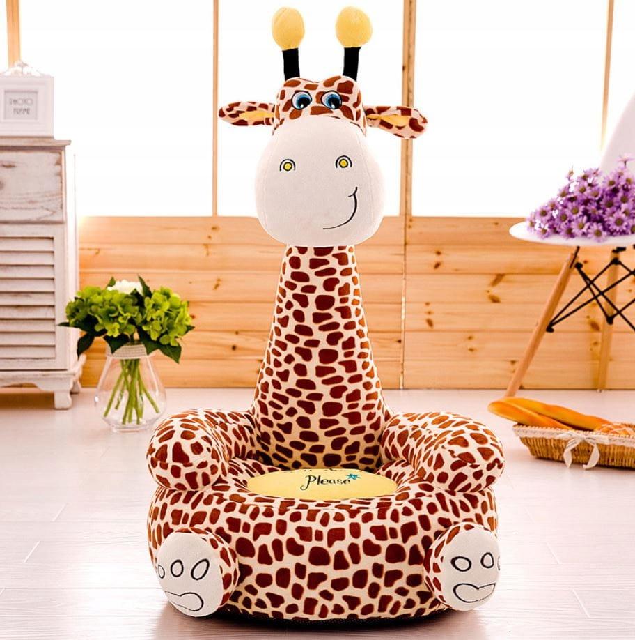 Maskotová pohovka pre kreslá v kresle. Žirafa pre deti. Kolekcia
