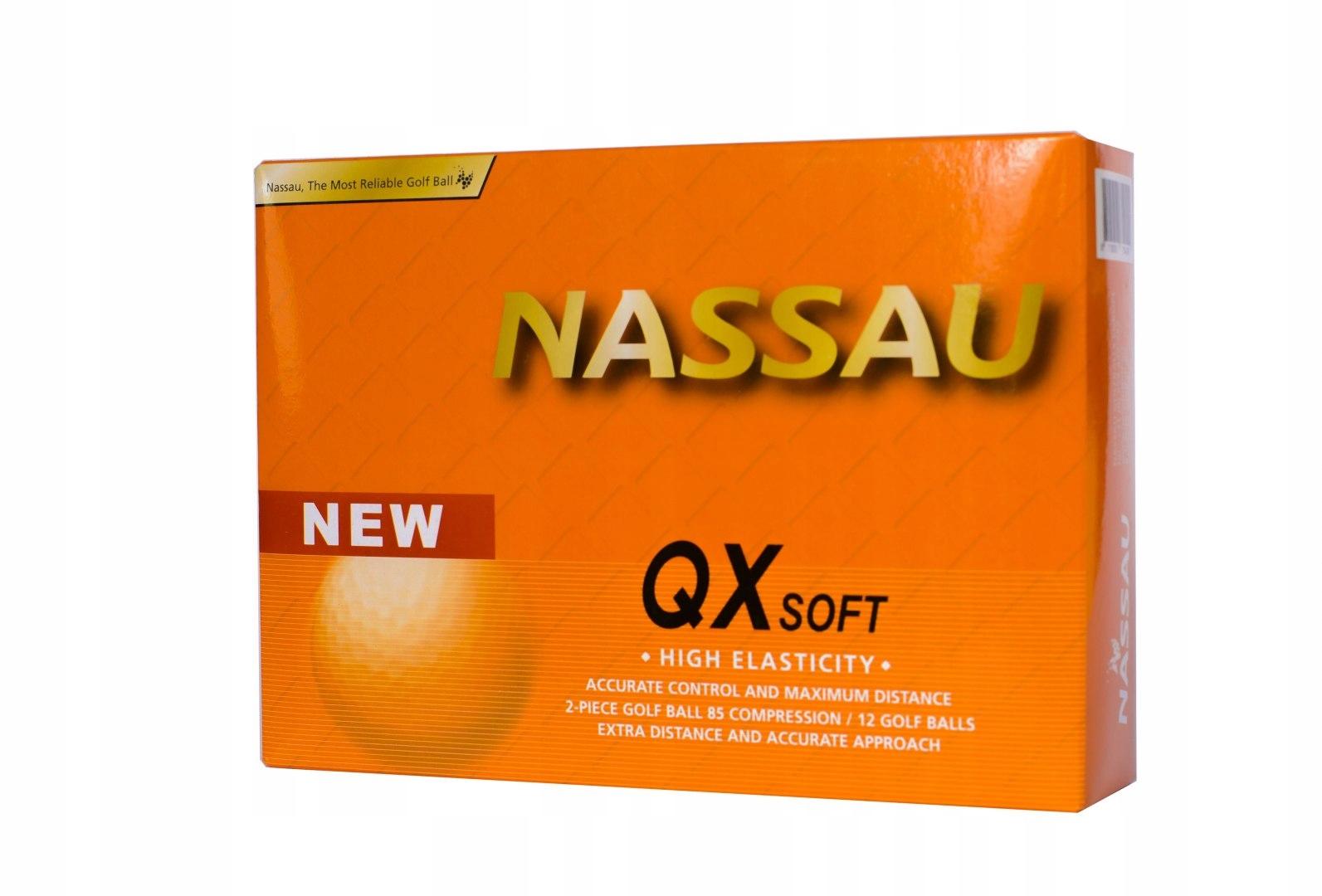 Piłki golfowe NASSAU QX SOFT (białe)