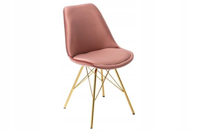 Škandinávska stolička RETRO špinavý ružový pôvab