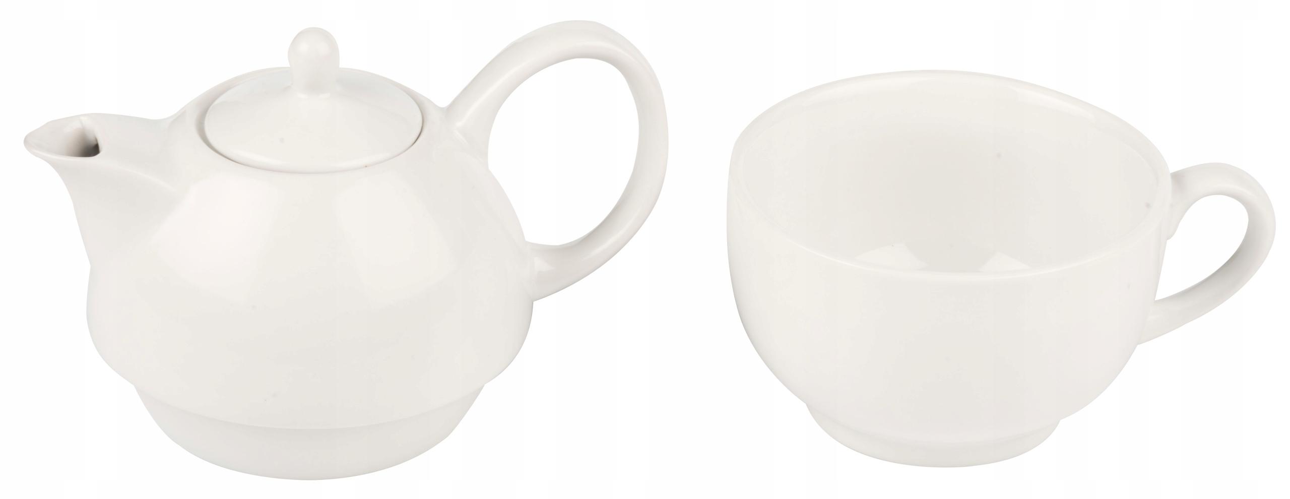 Dzbanek do parzenia herbaty, kawy z filiżanką