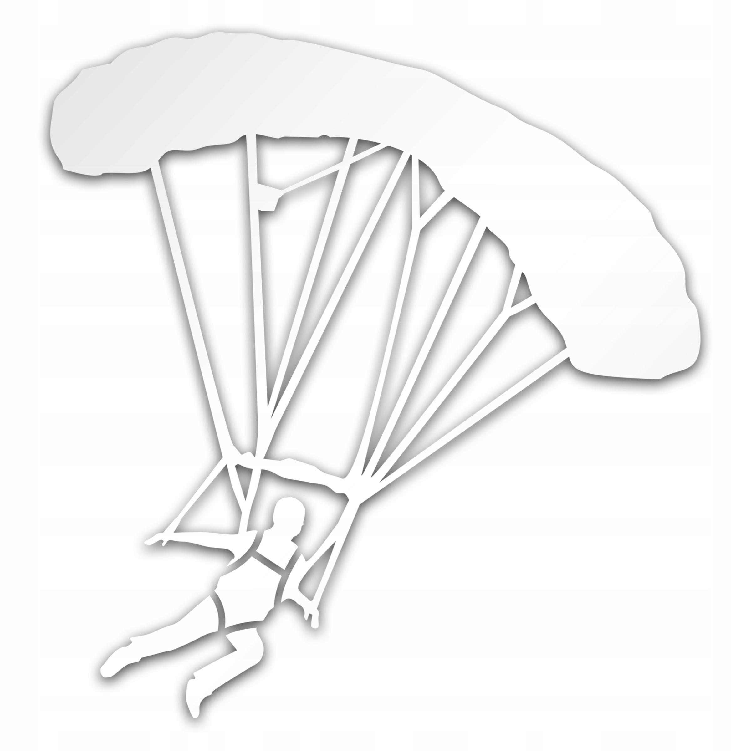 Parachute Jumper Silver Sticker pre auto