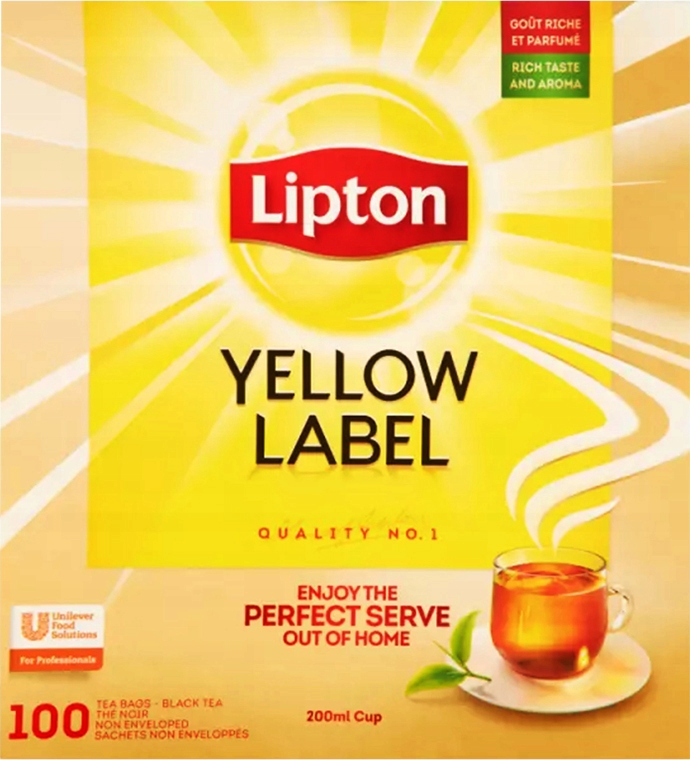Item Lipton Yellow Label black tea 100 bags